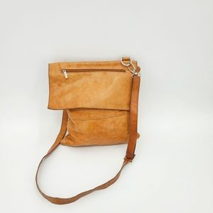 Genuine Leather Made in Italy Crossbody Bag